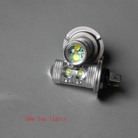 10pcs/lot  Ba15s  T20 1156  h11 hb4 h7 fog lamp 50w High power Led Car Reverse with   low price Free shipping