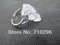 High Quality Natural Clear Quartz Ring Gem Stone Ring Rock cryatal point Ring 10pcs/lot