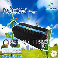 2014 New model  6000W DC 12V/24V/48V  to AC 100V/110V/120V 220V/230V/240V Pure Sine Waveportable inverter,marine inverter
