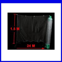 Free   shipping  fishermen 5x5cm Mesh Hole 24M x 1.5M Fishing Fish Gill Net w Float