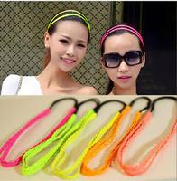 Wholesale double cortex hair braided elastic headband Headbands
