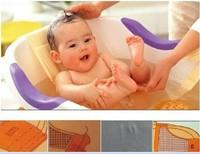 Baby kid bath bed soft slip-resistant bath net mesh sling rack shower plate baby seat bath massage T Shape Netlike bed