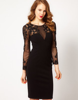 new spring 2014 formal dress slim embroidered one-piece party dress dp166