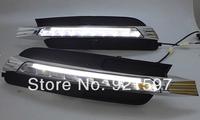 chrome High power Super bright for A6 2013,2014 led DRL daytime running light lamp fog lamp cover free shipping EMS,FedEx