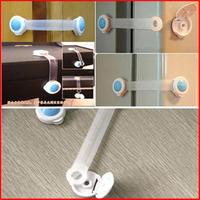 6pcs New 2015 Baby Safety Products Cupboard Latch Baby Security Locks Closet Door Lock -- BYA014 PT09