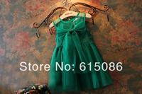Wholesale 2014 New Fashion Girl Sleeveless Bow Tutu Dress Kids Clothes 5pls/A lot Free shipping