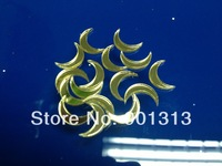 Moon GOLD Acrylic mirror sticker, 1cm diameter, 1mm thick, 1000pcs/package, free shipping