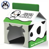 Pet-link milk box ceramic hamster supplies