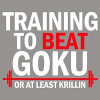 High Quality the dragon ball z Training to beat Goku - Krillin 2014 100% Cotton Casual Fashion T-shirt Tee Dress Camiseta Cloth
