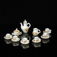 free shipping- Dollhouse doll house model elegant english-style set tea set