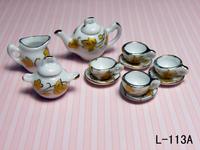 free shipping- Dollhouse doll house tea set model