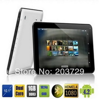 10inch tablet A20 dual core android 4.2 1GB RAM 8GB ROM white Dual camera WiFi HDMI OTG Tablet PC