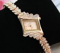 2014 New Women's Watch   Rose gold fashion luxury watches   Business Rhinestone Bracelet Watch
