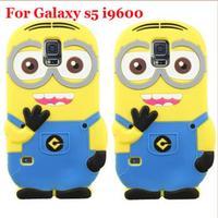 10pcs/lot Free ship! 3D Cute Cartoon Despicable Me Minion Soft Universal Case For Samsung Galaxy s5 i9600