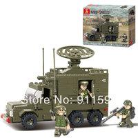 Free shipping creative assemble Building blocks children military Radar car Building blocks puzzle toy model #W0006