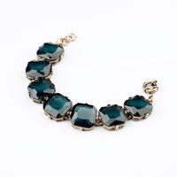 Fashion Crystal Paved Link Chain Bracelet