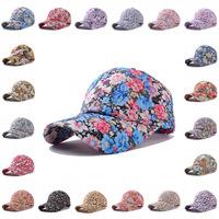 21 colors 2014 New flower printing baseball cap hat for women,HT1047