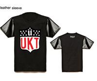 Fashion Men's t shirt cheap brand cotton leather short sleeve t-shirt for man hip hop sport tees Unkut mens designer plus size