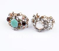 Fashion Crystal Paved Vintage Link Chain Bracelet