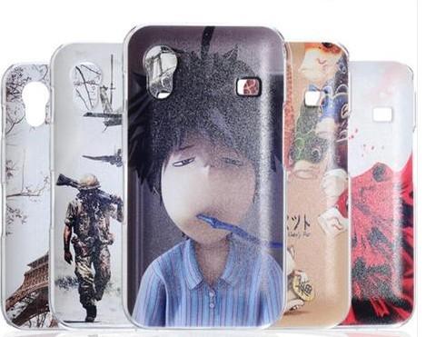 الترا-- رقيقة شخصية الرسم الملون قضية الهاتف النقال لسامسونج غالاكسي ايس s5830 قشرة صلبة واقية, الشحن مجانا(China (Mainland))