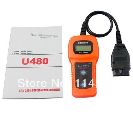 New 2014 High Quality U480 OBD2 CAN BUS & Engine Code Reader U480 Code Reader Scanner for VW,AU-D1 U480 Scanner renault(China (Mainland))
