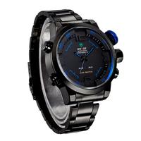 Brand WEIDE WH2309 watch Men's watch military watches sports quartz wristwatches, men full steel watch