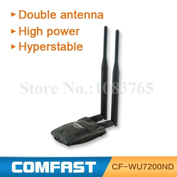 ralink 3072 300 Mbps ad alta potenza usb wifi segnale trasmettitore ricevitore wireless scheda di rete lan adattatore con doppia 6 dbi