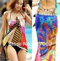 BIG SIZE!NEW 2014 Fashion Variety of multicolored beach dress bikini beach towel   c  clock dot  Free Shipping SC-21