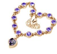 2015 новая мода ювелирные изделия Аксессуары женщин бедра траншею королевской многоцветной любовь тепла кристалл браслет женщин