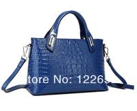 2014 new arrival high quality crocodile texture handbag female one shoulder bag free shipping B-119