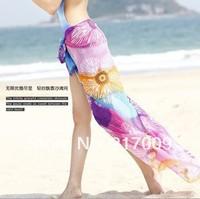 BIG SIZE! NEW 2014 Fashion Rainbow stripe bikini beach beach towel scarf c  clock dot  Free Shipping SC-24