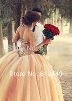 2014 New Hot Sale Fashion Tulle Elegant Wedding Dress Sweetheart  Floor Length Beaded With Rhinestone Dress