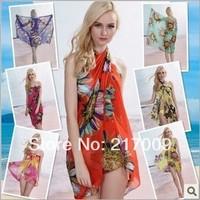 BIG SIZE! NEW 2014 Fashion Beach dress bikini swimsuit large mantillas   c  clock dot  Free Shipping SC-22