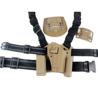 For Sig 220/226/228/229 Tactical Airsoft Drop Leg Right handed holster Set W/ Panel Mag Flashlight Pouch Belt Loop paddle  Sand