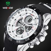 30M Waterproof Analog LED Wristwatch Men Sports Watch, Japan Quartz Movement, WEIDE Watches