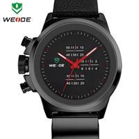 3ATM genuine soft leather watchband WEIDE watch, original Japan Miyota 2035 quartz movement
