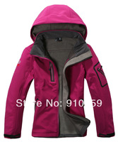 new spring 2014 women's Polar softshell Outdoor hiking Sportwear Jackets Waterproof clothes Climbing female coats for girls