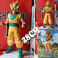 New 2014 hot toys japanese anime dolls Dragon ball Z action figures Goku Super Saiyan 28cm large figurine classic toys for boys