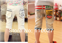 2014 new boy pants baby & kids summer trousers denim clothes fifth pants casual pants 5pcs children's wear free shipping jeans