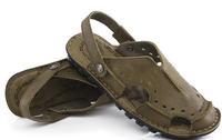 camel leather sandals summer sandals cow leather shoes Baotou beach