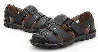 camel  Summer 2014 new men's Baotou sandals  leather matte authentic Korean version of casual shoes breathable