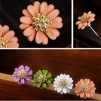 2014  18K Золото Plated Bohemia Стиль Vintage Daisy flower Summer jewelry earrings ...