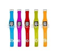 Digital Children Fashion Cartoon  Lovely  Boy & Girl Student Fruit Jelly Kid Wrist LED Digit Watch Watches Birthday Xmas Gift