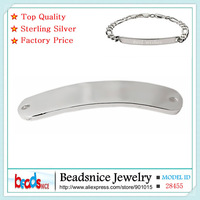 Beadsnice ID28455 unique 925 sterling silver diy connector charms Personalized  Engraved word charm for handmade necklace making