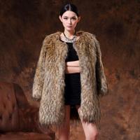 Fox fur coat 2014 autumn and winter women fox fur coat medium-long thermal overcoat  Y9P0