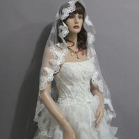 Fashion new arrival fashion pure lace decoration veil bridal veil 1.5 meters wedding accessories