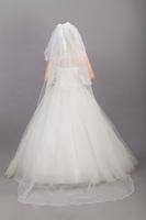 Bridal veil long train elegant wedding accessories