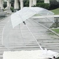 Free Shipping Retail 1Pcs/lot Long Handle Color Transparent Umbrella Self-opening Umbrella