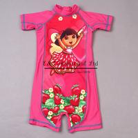 2014 Fashion Girl Swimwear One piece Bathing Suits Girls And Stawberry Hot Pink Children Swimwear Kids Swimming Suit Girls