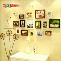 15pcs rectangle wooden photo frame home decor